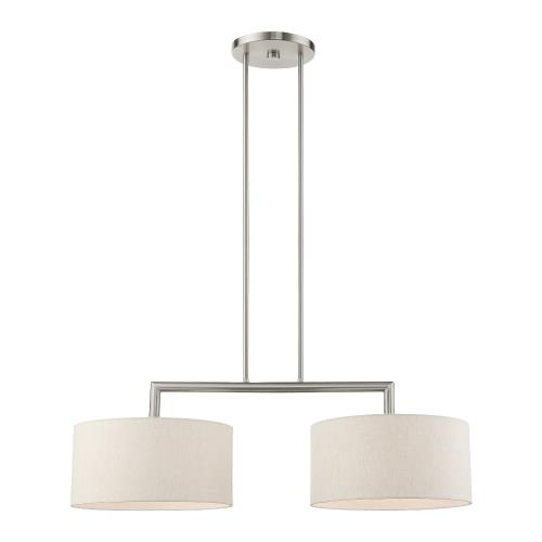 Livex Lighting 49292 Meridian - 2 Light Linear Chandelier in Meridian Style - 14 Inches wide by 18 Inches high