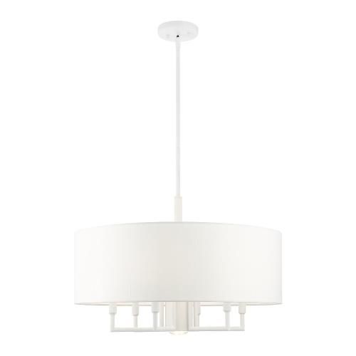 Livex Lighting 49376 Meridian - 7 Light Pendant in Meridian Style - 24 Inches wide by 18.5 Inches high