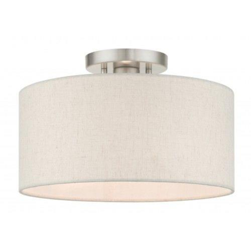 Livex Lighting 49809 Meadow - 1 Light Semi-Flush Mount in Meadow Style - 13 Inches wide by 8.5 Inches high