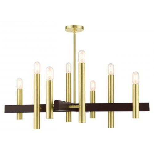 Livex Lighting 49998 Helsinki - 8 Light Chandelier in Helsinki Style - 38 Inches wide by 26.25 Inches high