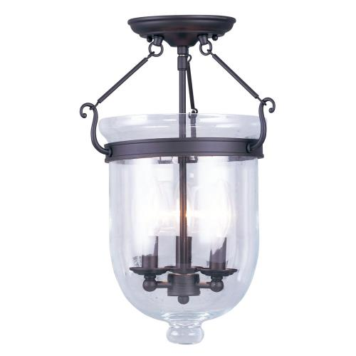 Livex Lighting 5062-07 Jefferson - Three Light Semi-Flush Mount