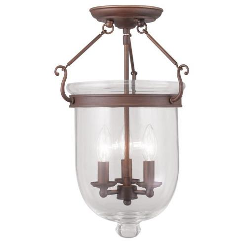 Livex Lighting 5062-70 Jefferson - Three Light Flush Mount