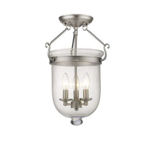 Livex Lighting 5062-91 Jefferson - Three Light Semi-Flush Mount