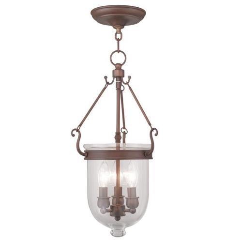 Livex Lighting 5063-70 Jefferson - Three Light Chain Hang Pendant