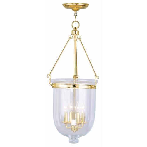 Livex Lighting 5065-02 Jefferson - Four Light Chain Hanging Lantern