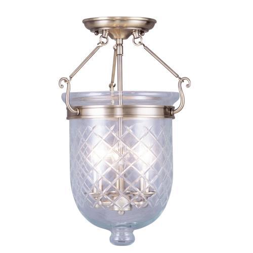 Livex Lighting 5072-01 Jefferson - Three Light Semi-Flush Mount