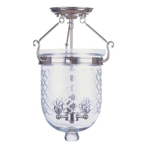 Livex Lighting 5072-35 Jefferson - Three Light Semi-Flush Mount