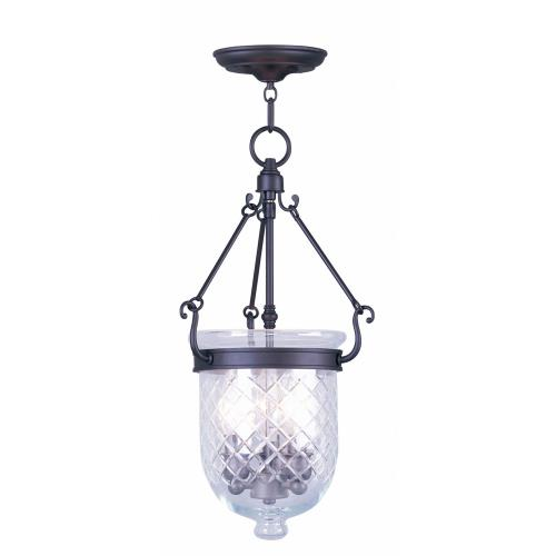 Livex Lighting 5073-07 Jefferson - Three Light Chain Hanging Lantern