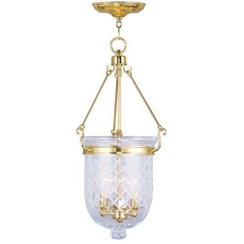 Livex Lighting 5074-02 Jefferson - Three Light Chain Hanging Lantern