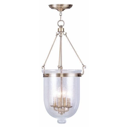 Livex Lighting 5085-01 Jefferson - Four Light Chain Hanging Lantern