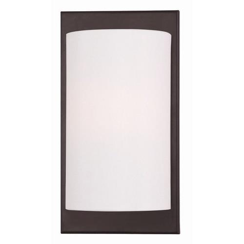 Livex Lighting 50860 Meridian - 1 Light Wall Sconce in Meridian Style - 6 Inches wide by 11 Inches high