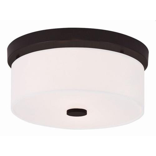 Livex Lighting 50862 Meridian - 2 Light Flush Mount in Meridian Style - 11 Inches wide by 5 Inches high