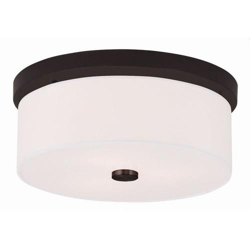 Livex Lighting 50863 Meridian - 2 Light Flush Mount in Meridian Style - 13.5 Inches wide by 5.5 Inches high