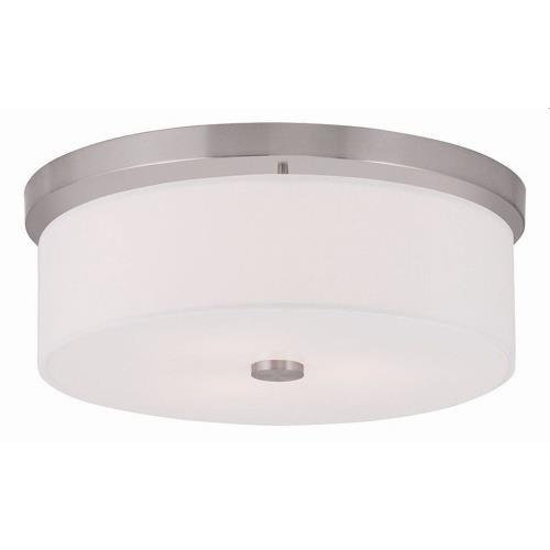Livex Lighting 50864 Meridian - 3 Light Flush Mount in Meridian Style - 15 Inches wide by 5.5 Inches high