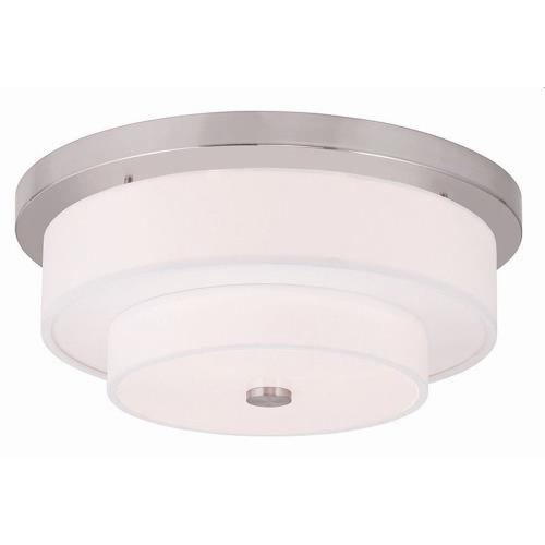 Livex Lighting 50865 Meridian - 4 Light Flush Mount in Meridian Style - 17.75 Inches wide by 7 Inches high