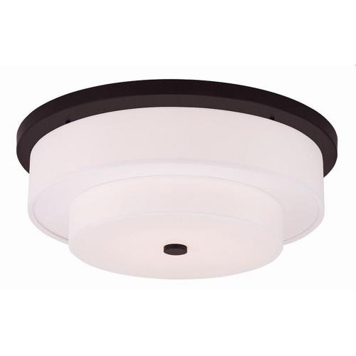 Livex Lighting 50866 Meridian - 4 Light Flush Mount in Meridian Style - 21.5 Inches wide by 8 Inches high