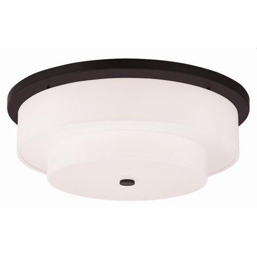 Livex Lighting 50867 Meridian - 5 Light Flush Mount in Meridian Style - 25.5 Inches wide by 9 Inches high