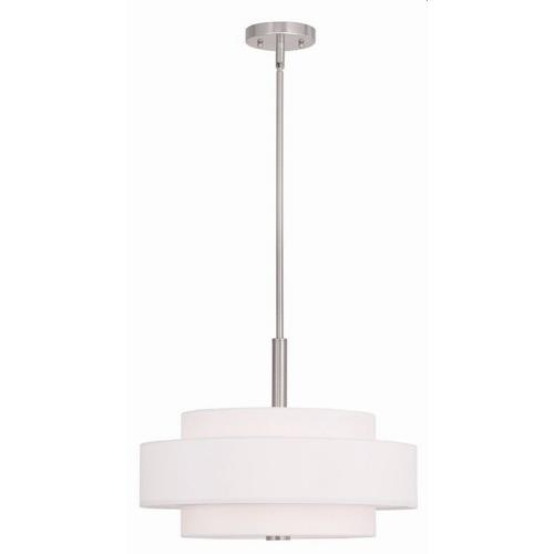 Livex Lighting 50874 Meridian - 4 Light Pendant in Meridian Style - 18 Inches wide by 16 Inches high