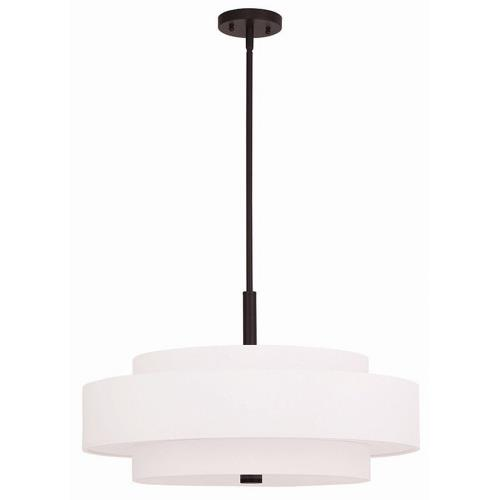 Livex Lighting 50875 Meridian - 5 Light Pendant in Meridian Style - 24 Inches wide by 17 Inches high