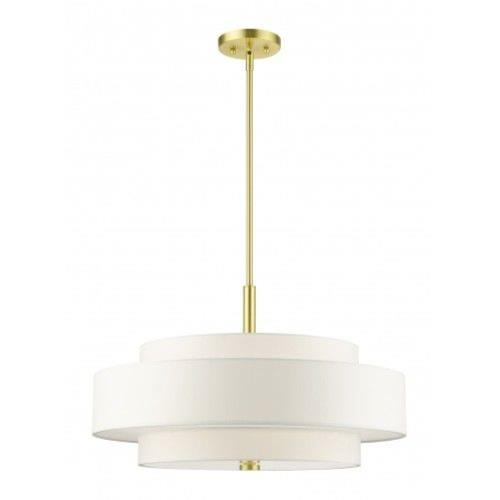 Livex Lighting 50875-12 Meridian - 5 Light Chandelier in Meridian Style - 24 Inches wide by 17 Inches high