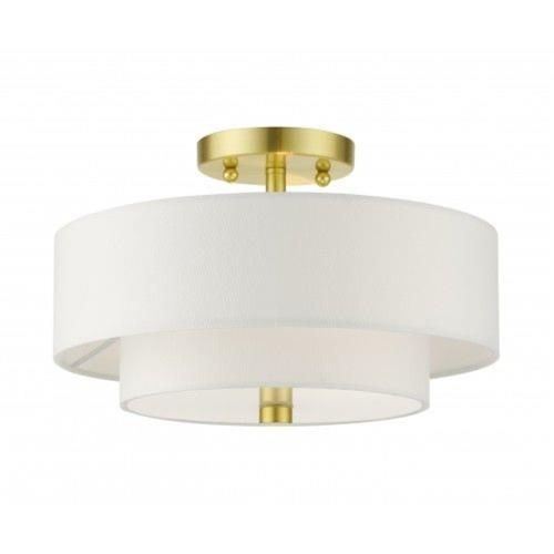 Livex Lighting 51042-12 Meridian - 2 Light Semi-Flush Mount in Meridian Style - 11 Inches wide by 8.25 Inches high