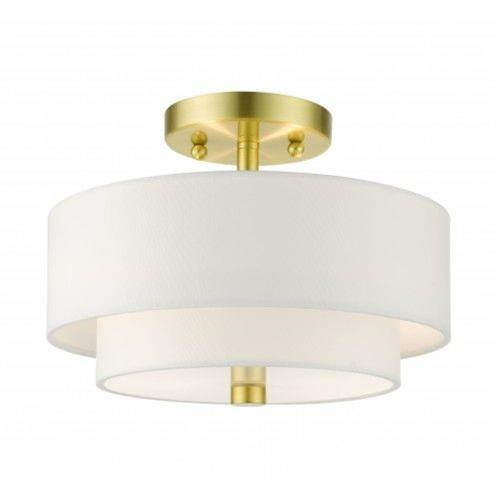 Livex Lighting 51043-12 Meridian - 2 Light Semi-Flush Mount in Meridian Style - 13 Inches wide by 8.25 Inches high