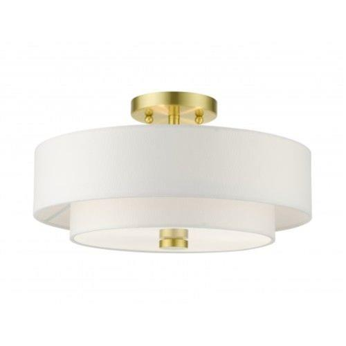 Livex Lighting 51044-12 Meridian - 3 Light Semi-Flush Mount in Meridian Style - 15 Inches wide by 8.25 Inches high