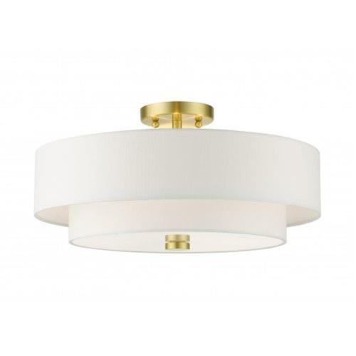 Livex Lighting 51045-12 Meridian - 4 Light Semi-Flush Mount in Meridian Style - 18 Inches wide by 9 Inches high