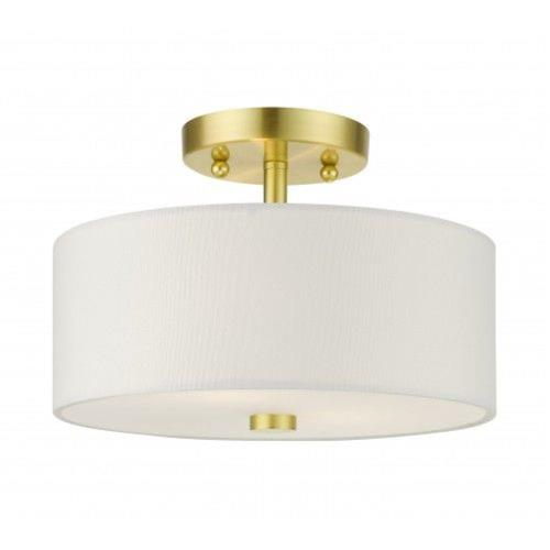 Livex Lighting 51052-12 Meridian - 2 Light Semi-Flush Mount in Meridian Style - 11 Inches wide by 7.75 Inches high