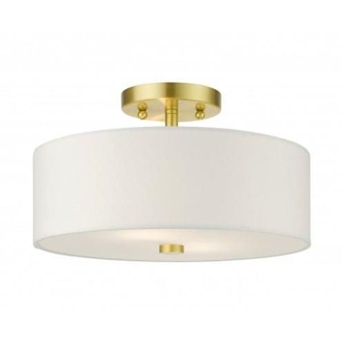Livex Lighting 51053-12 Meridian - 2 Light Semi-Flush Mount in Meridian Style - 13 Inches wide by 7.75 Inches high