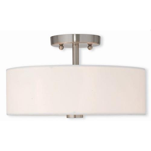 Livex Lighting 51053-91 Meridian - 2 Light Semi-Flush Mount in Meridian Style - 13 Inches wide by 7.5 Inches high