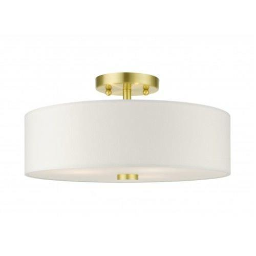 Livex Lighting 51054-12 Meridian - 3 Light Semi-Flush Mount in Meridian Style - 15 Inches wide by 7.5 Inches high