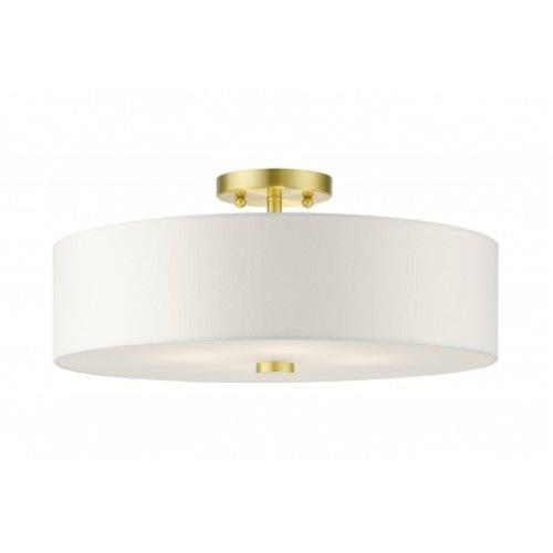 Livex Lighting 51055-12 Meridian - 4 Light Semi-Flush Mount in Meridian Style - 18 Inches wide by 8.13 Inches high