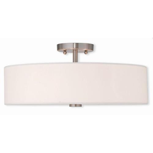 Livex Lighting 51055-91 Meridian - 4 Light Semi-Flush Mount in Meridian Style - 18 Inches wide by 8.13 Inches high