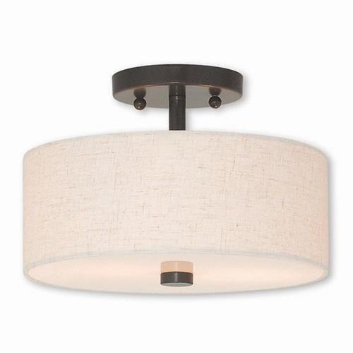 Livex Lighting 52133 Meridian - 2 Light Semi-Flush Mount in Meridian Style - 11 Inches wide by 7.5 Inches high
