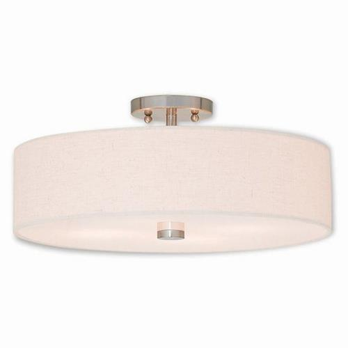 Livex Lighting 52136 Meridian - 4 Light Semi-Flush Mount in Meridian Style - 18 Inches wide by 8.13 Inches high