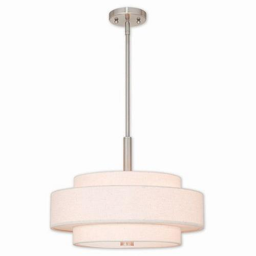 Livex Lighting 52137 Meridian - 4 Light Pendant in Meridian Style - 18 Inches wide by 16 Inches high
