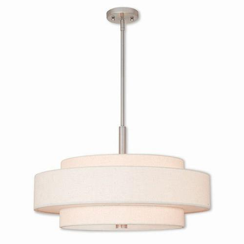 Livex Lighting 52138 Meridian - 5 Light Pendant in Meridian Style - 24 Inches wide by 17 Inches high