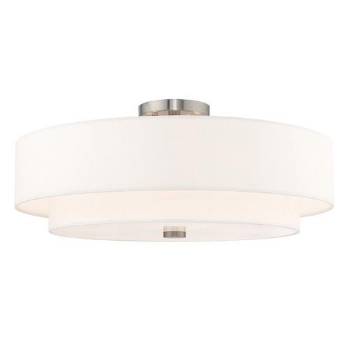 Livex Lighting 52140-91 Meridian - 5 Light Semi-Flush Mount