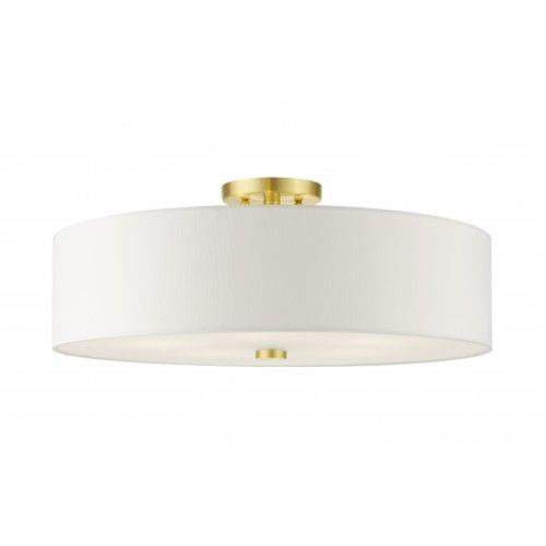 Livex Lighting 52142-12 Meridian - 5 Light Semi-Flush Mount in Meridian Style - 22 Inches wide by 9 Inches high