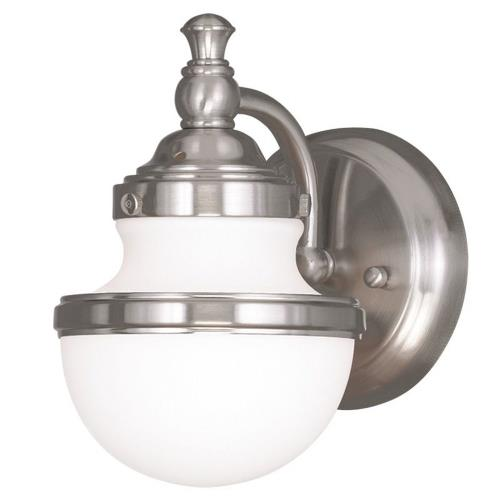 Livex Lighting 5711 Oldwick - 1 Light Wall Sconce in Oldwick Style - 5.5 Inches wide by 8.25 Inches high