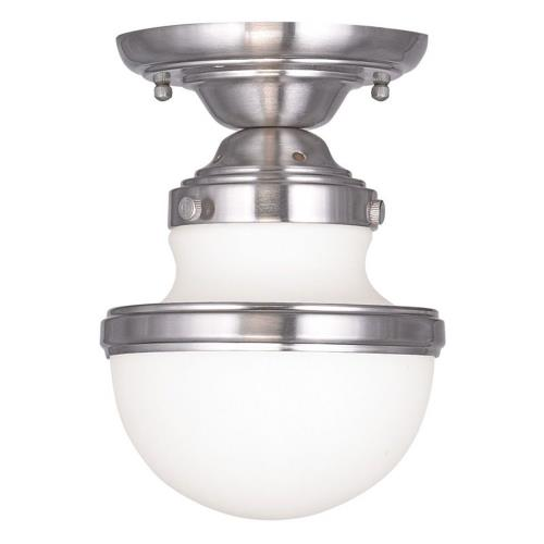 Livex Lighting 5720-91 Oldwick - 1 Light Flush Mount in Oldwick Style - 5.5 Inches wide by 8 Inches high