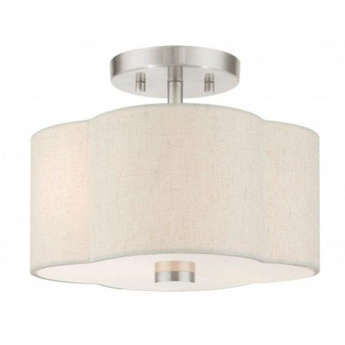 Livex Lighting 58061 Solstice - 2 Light Semi-Flush Mount in Solstice Style - 11 Inches wide by 8.5 Inches high