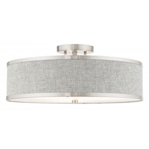 Livex Lighting 60425-91 Park Ridge - 18 Inch 3 Light Semi-Flush Mount