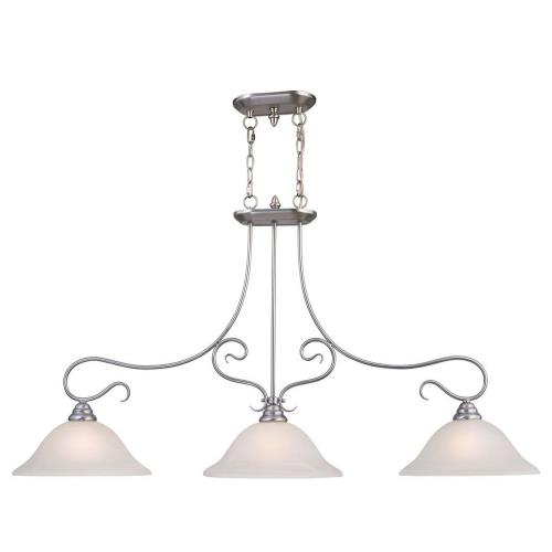 Livex Lighting 6108 Coronado - 3 Light Island in Coronado Style - 13 Inches wide by 27 Inches high
