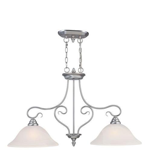 Livex Lighting 6132 Coronado - 2 Light Island in Coronado Style - 13 Inches wide by 21.25 Inches high