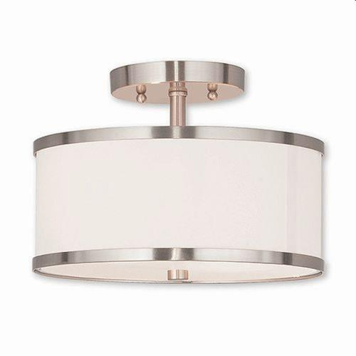 Livex Lighting 62626 Park Ridge - 2 Light Semi-Flush Mount in Park Ridge Style - 11 Inches wide by 8 Inches high