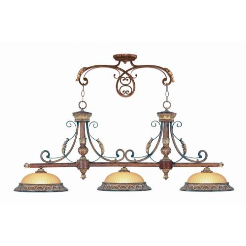 Livex Lighting 8584-63 Villa Verona - 3 Light Island in Villa Verona Style - 13 Inches wide by 21 Inches high