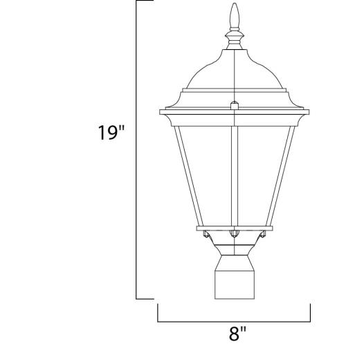 Maxim Lighting 1001 Westlake - One Light Outdoor Post Mount