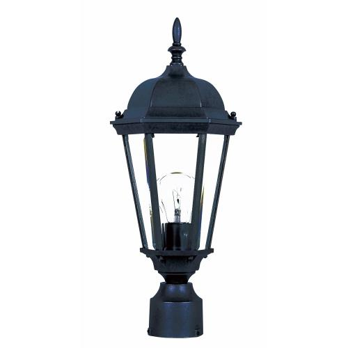 Maxim Lighting 1001 Westlake-1 Light Outdoor Pole/Post Mount in Mediterranean style-8 Inches wide by 19 inches high